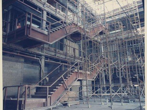 Image of 1985_0602_omaha_branch_construction_floor_1_atrium_stairway