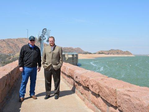 Image of 2014 Chad and Clint at Altus Dam.jpg
