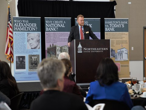 Image of Chad Wilkerson speaking at Tahlequah Econ Forum at NSU - Copy.jpg