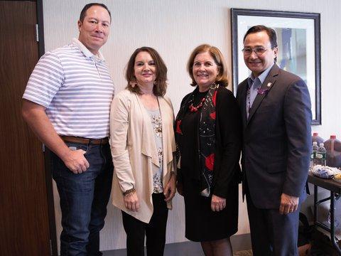 Image of EG  with Principal Chief Chuck Hoskin, Jr. and Deputy Principal Chief Bryan Warner with OKC Board member Susan Chapman Plumb - Copy.jpg