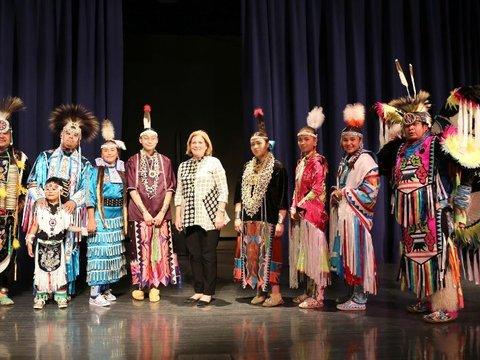 Image of Esther George - Winnebago Tribe Dancers Omaha July 2021