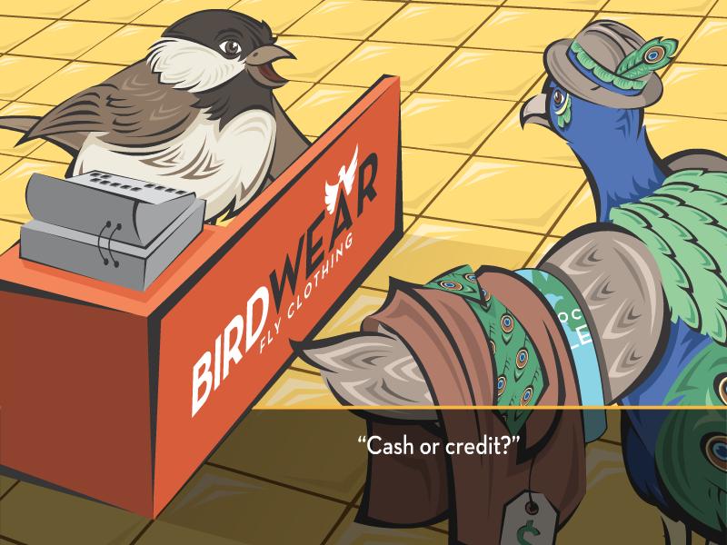 """Cash or credit?"""