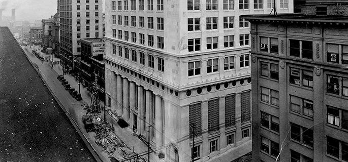 Bank headquarters at 925 Grand